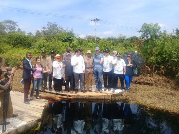 Rombongan Partner Meeting Global Peatland Initiative Kunjungi Siak