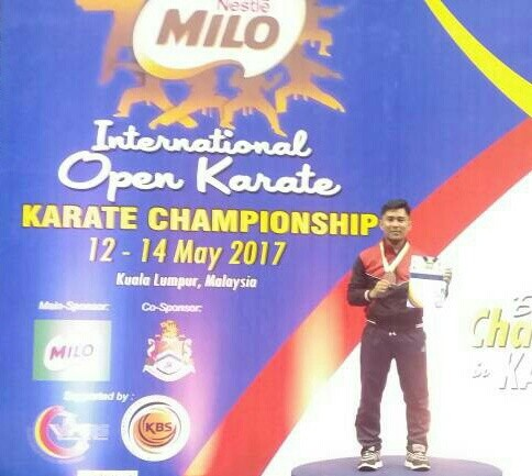 Putra Kampar Juara 3 International Open Karate Championship 2017 Malaysia