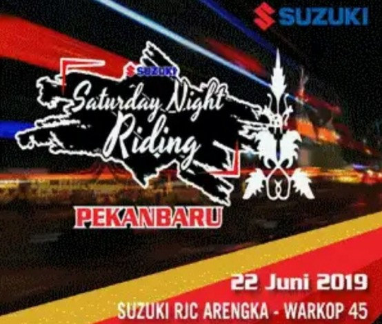 400 Bikers Bakal Ramaikan Suzuki Saturday Night Riding di Pekanbaru