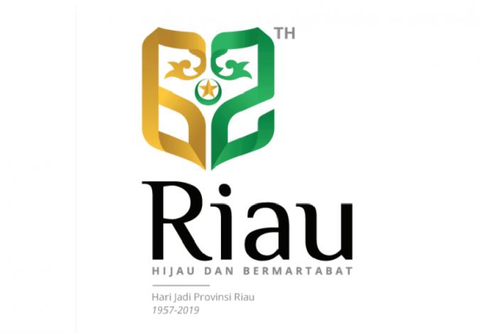 Logo Hut Ke 62 Riau Diluncurkan Bertema Hijau Dan Bermartabat Cakaplah Berpikir Berbuat Bercakap